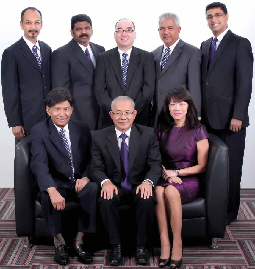 board of directors Sitting from left to right: Tan Sri Dato Mohd Ibrahim Bin Mohd Zain (Independent Non-Executive Chairman) Datuk Samsul Bin Husin (Group Managing Director) Ang Hsin Hsien (Executive