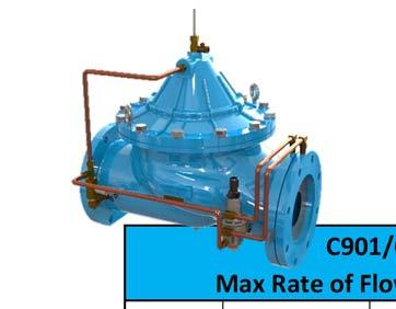 Max Rate of Flow Series C900 C901/CF901 Max Rate of Flow Control Valve Size CF Flanged C Flanged C Flanged (inches) 150# 150# 300# 2 $ 2,285 $ 2,344 2 1/2 $ 2,563 $ 3,204 $ 3,419 3 $ 2,602 $ 3,311 $