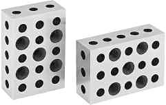 Blocks with 23 Holes 1 Pair Quality Import - Hardened & Ground 5 holes tapped