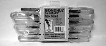 Bondhus Individual Ball Wrenches BALLDRIVER Sets Set Part No. in Size No. No. Set Range Price BSX 13 876-001 13.050-3/8 $ 00.00 BSX 9mm 876-002 9 1.5mm - 10mm $ 00.00 Part Size No.