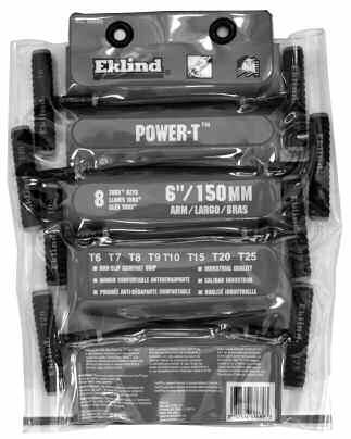 Eklind Torx PSD Screwdrive Set, 10pc Part No.