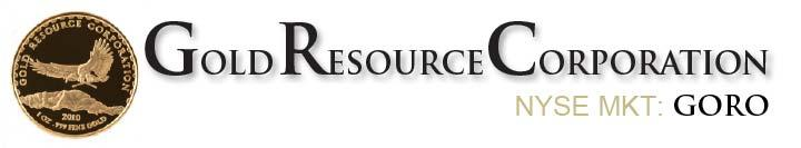 FOR IMMEDIATE RELEASE November 7, 2013 NEWS NYSE MKT: GORO GOLD RESOURCE CORPORATION REPORTS THIRD QUARTER RESULTS; MAINTAINS 2013 PRODUCTION OUTLOOK COLORADO SPRINGS November 7, 2013 Gold Resource