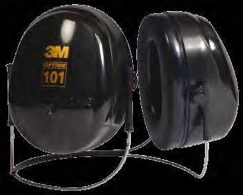 The Optime 5 earmuffs feature a double-shell cup design that helps improve attenuation across the entire range of