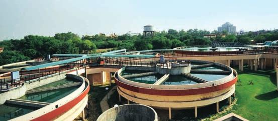 Water and Solar SBG Water treatment plant executed by L&T at Maharani Bagh near Delhi.