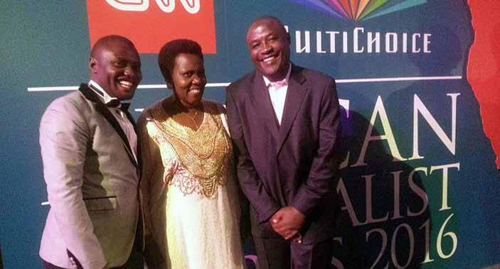 ACCOLADES Appreciation to the board Conan Businge (L) and Gerald Tenywa (R) CNN MultiChoice African Journalists Awards of the Year Awards Runner-up 2016 By Conan Businge Last year, I travelled with
