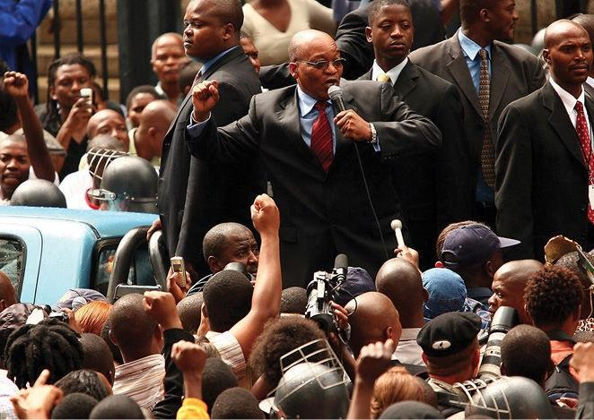 Photo Section Jacob Zuma, then ANC deputy president, rallies
