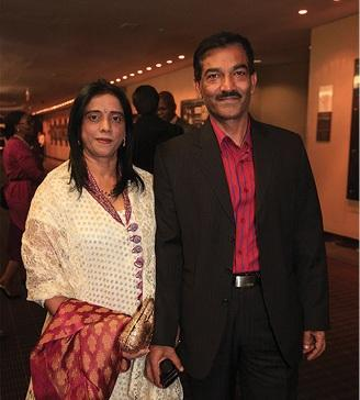 Roy Moodley and his wife, Mumsie, at Jacob Zuma's 70th birthday celebration at the Durban
