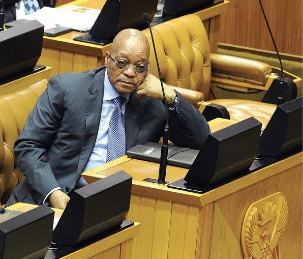 President Jacob Zuma at a question-and-answer session in which he was asked about the