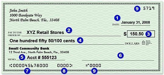 Writing a check 1. Date you are writing the check (month/date/year) 2. Recipient of the check 3. Amount of money -- numeric 4.