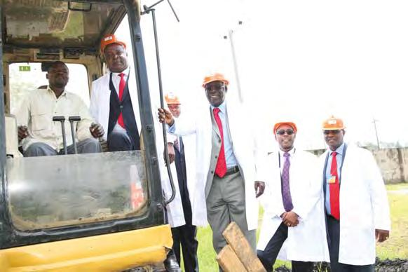 Komarock Phase 5A Groundbreaking Through the Kenya Building Society (KBS), Housing Finance started off the construction of