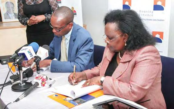 ACTIVITIES Postbank Agency Agreement Signing Housing Finance signs an agency banking agreement with Postbank,