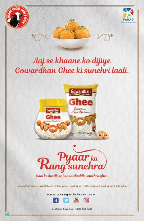 ghee which gave birth to our new campaign Pyaar Ka Rang Sunhera which changed the consumption pattern