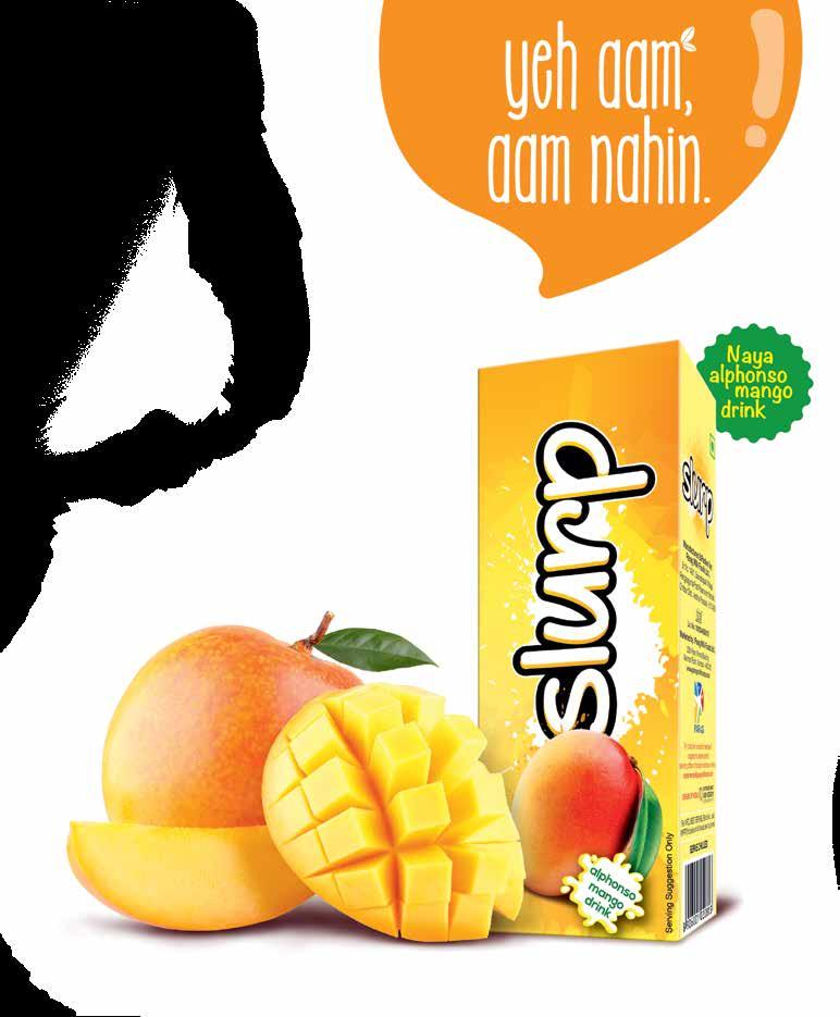 Corporate Overview Slurp Forayed into beverage category with Slurp - a mango drink with the dash of milk Slurp is manufactured from the finest Alphonso mangoes with a dash of milk.