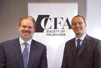 Peng Chen, CFA (pictured); and Gordon Fowler, Jr. (pictured). More than 270 attendees came to the Hartford Society of Financial Analysts forecast dinner on 8 February at the Connecticut Convention Center in Hartford.