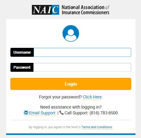 page. At the login page, enter the user ID and password, and click