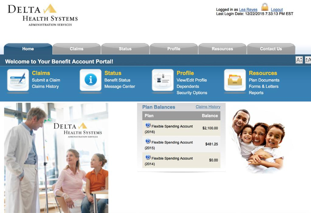 side of your employer FSA home page, under the Flex Enrollment section.
