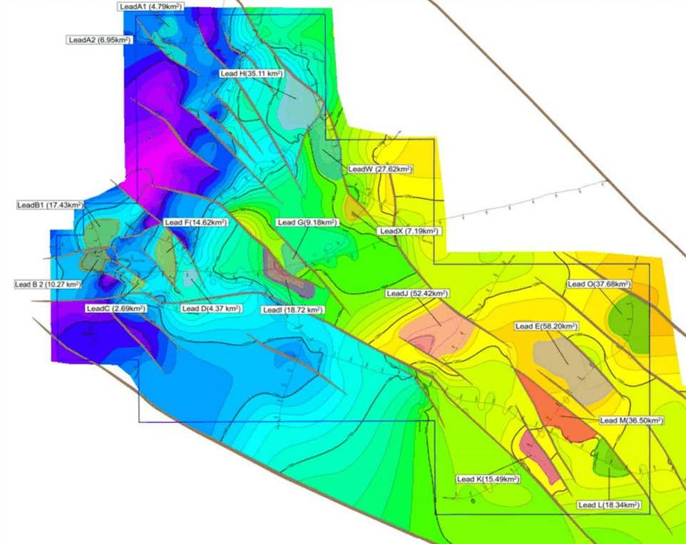 Seismic Upside Gas & Oil Identified multiple new large conventional targets, significantly, many at relatively shallow depths NSAI certified resources estimates of up to 910 MMBBL oil and 3.