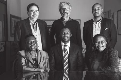 MEMBERS OF COUNCIL: Back: J Brooks Spector, Peter McKenzie, Kopano Xaba Front: Dr Sebiletso Mokone-Matabane, Kwanele Gumbi (Chairman), Shado Twala