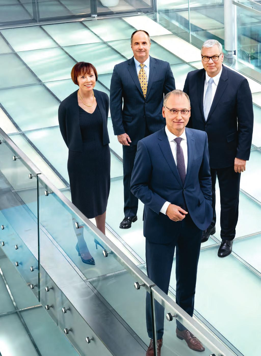 28 To our Stockholders Board of Management Bayer Annual Report 2017 Board of Management Erica Mann ¹ Consumer Health Dieter Weinand Pharmaceuticals Werner Baumann Chairman Johannes Dietsch ² Finance
