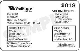 Wellcare Id Card Sample