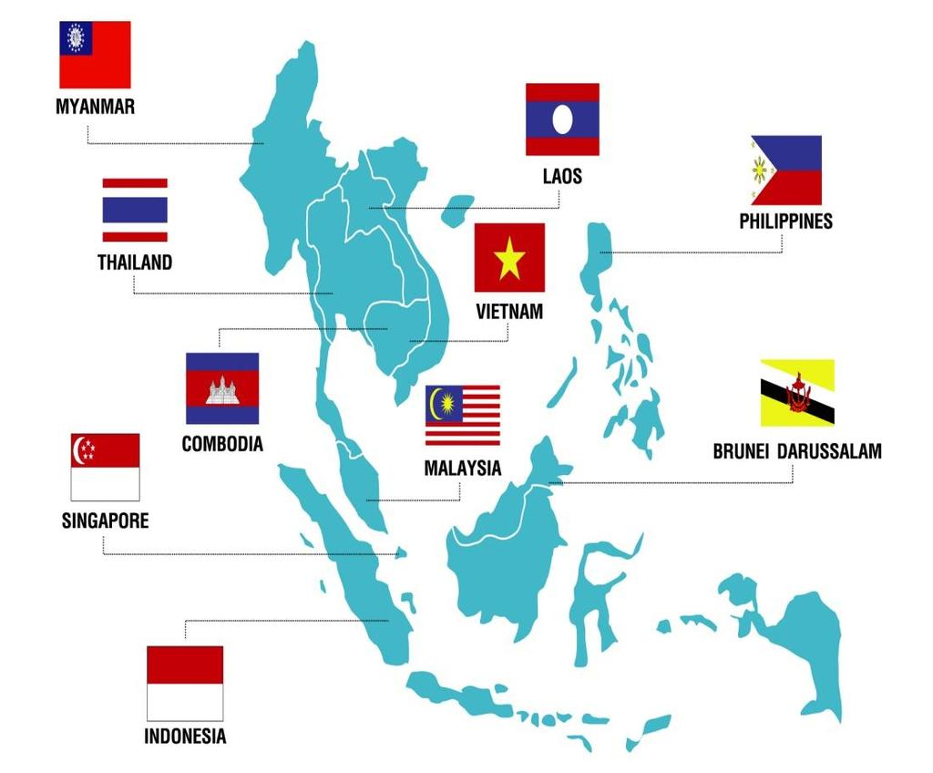 ASEAN (Association of South East Asian Nations) Land Area Population GDP value (US$) 2014 4,435,618 Sq. km 622.25 million 2.57 trillion CAMBODIA GDP growth 4.