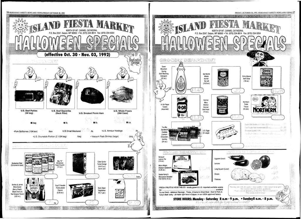 16-MARIANAS VARIETY NEWS AND VIEWS-FRIDAY-OCTOBER 30.1992 Dawn Mountain Spring Dish Washing Detergent ( 2 2 oz.