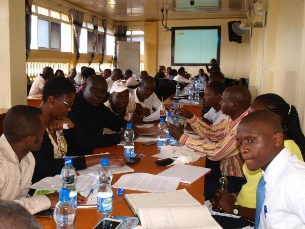 Multi-stakeholders meeting discussing the Tsavo Livelihoods Survey Report in Voi town. 3.