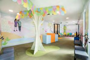 Appealing to childrens' senses, this unique facility encompasses bright, bold colours and a daring new approach to treating dental needs via interactive displays, Ipads, Playstations and a therapy