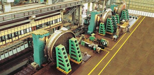 Heavy Engineering IC End shields for a nuclear power plant being machined by CNC floor-mounted horizontal boring machines at L&T s Heavy Engineering workshop at Hazira.