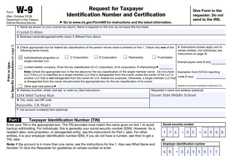 Finance Vendor Records in Escape and the W9 Form Relationship The Vendor Name, SSN/TIN, Classifiication and Address