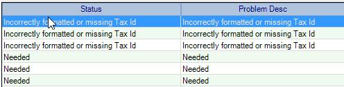 this vendor o If there are any vendors with this problem, it will prevent you from printing 1099s for those vendors, since they are missing very important information, o Check the Vendor record and