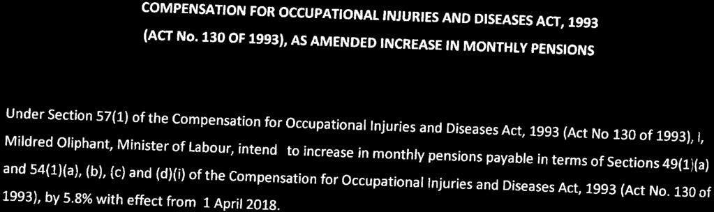 18 Compensation for Occupational Injuries and