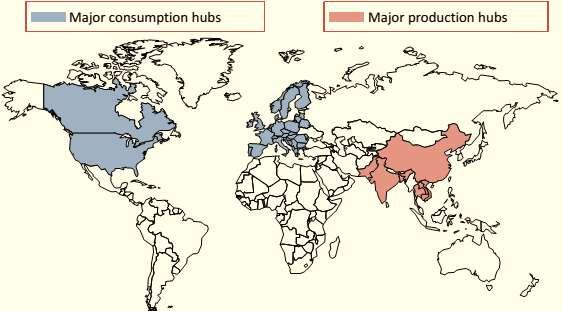 Asian countries like China and India apart from being production hubs have also emerged as strong consuming base