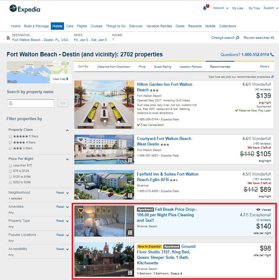 Exhibit 49: Increasingly, Expedia is integrating alternative accommodation listings from