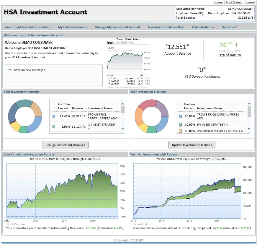 PNC BENEFIT PLUS HSA INVESTMENT USER GUIDE  Home Page and