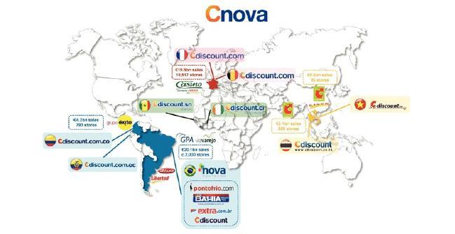 Cnova Initiation of coverage Cnova: a mix of mature/emerging markets Cnova is the result of the merger of Cdiscount in France and Nova Pontocom in Brazil.