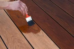 Thus, the color penetrates into the wood fibers, rather than resting in a surface film like paint.